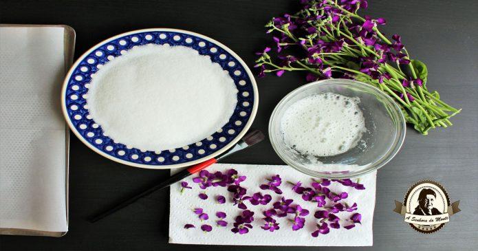 Aprenda a fazer flores cristalizadas