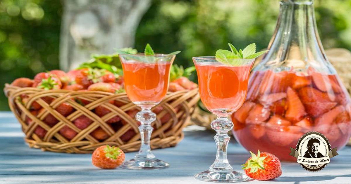 Receita de licor de morango