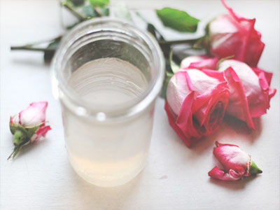 Tintura caseira de rosas