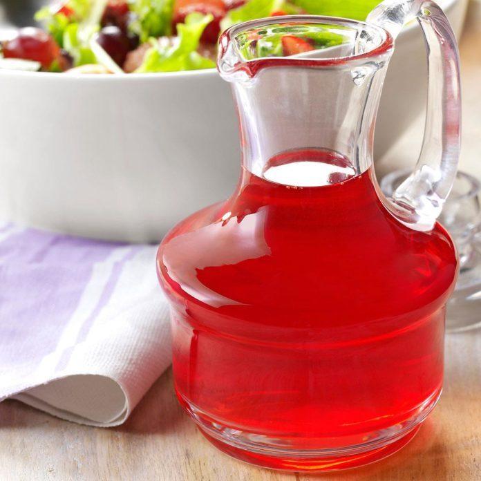 Receita de vinagre de framboesa - um molho original