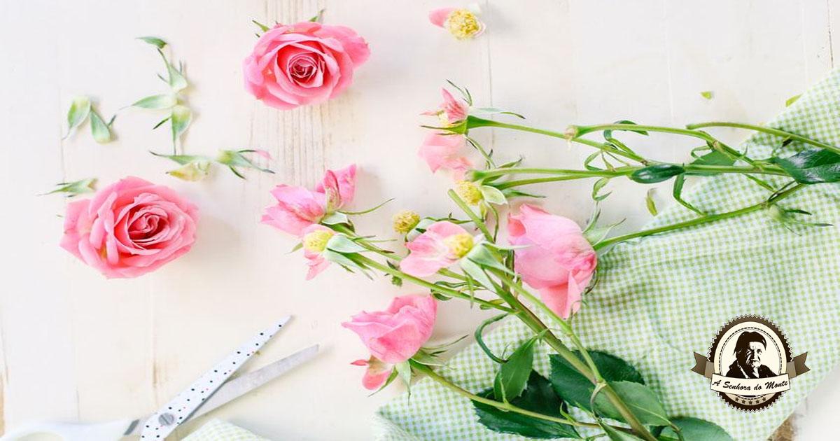 Água de rosas caseira