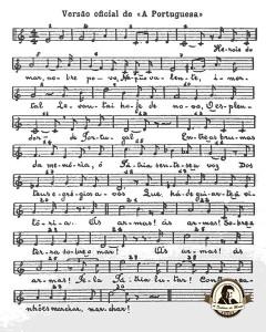 Versão oficial do hino português