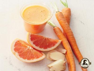 Tratamentos com sumo de cenoura