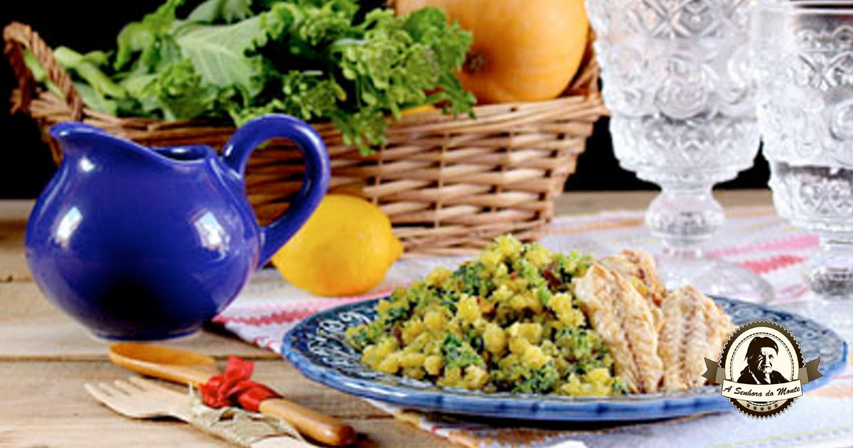 Receita de migas de grelos e broa de milho