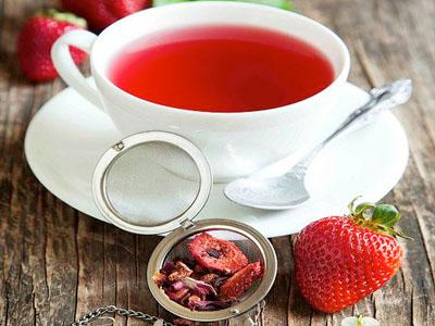 Chá de morango