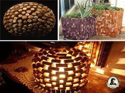 Rolhas de cortiça decoração