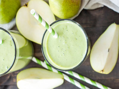 Sumo de pêra com maçã e gengibre