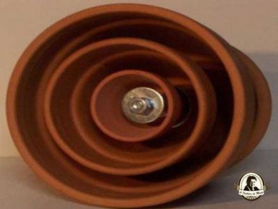 Aquecedor artesanal - vasos de barro