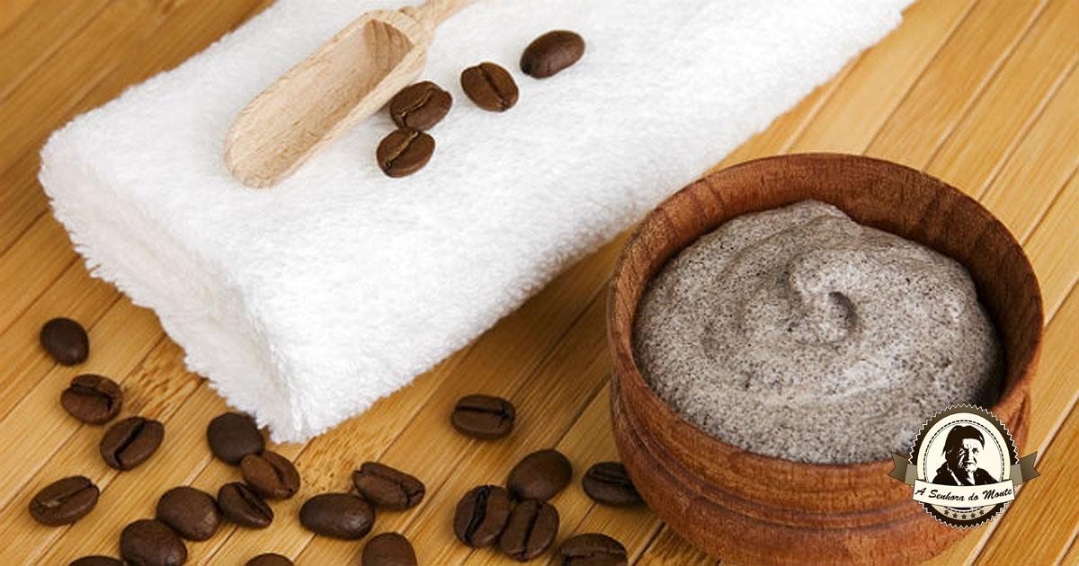 Esfoliante caseiro de café
