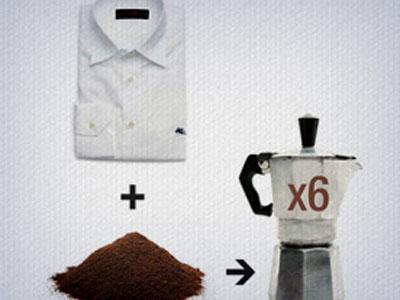 Tingimento de tecidos  com borras de café