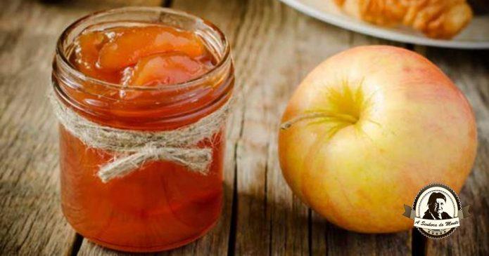 Compota de maçã com canela e gengibre