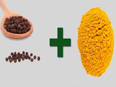 Açafrão e pimenta do reino quando combinados formam um excelente antibiótico natural