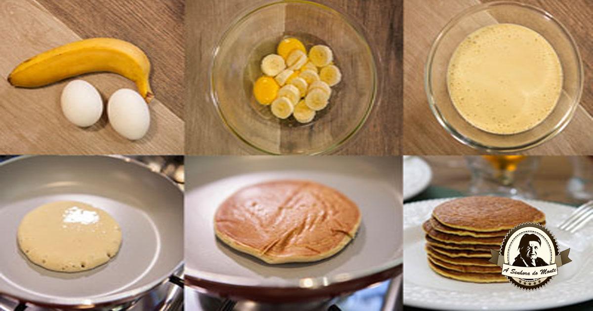 Receita de panquecas sem farinha nem leite