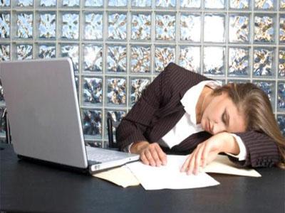 Falta de horas de sono