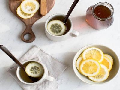 Chá de cascas de limão