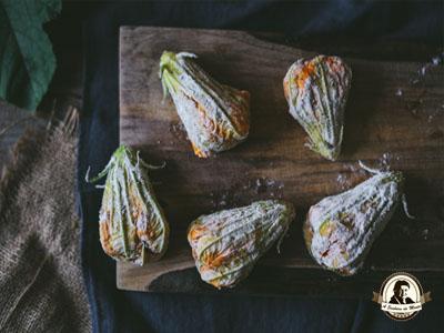 Como fritar flores de curgete