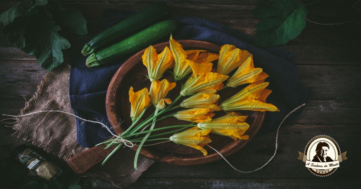 Sabia que as flores da curgete são comestíveis?