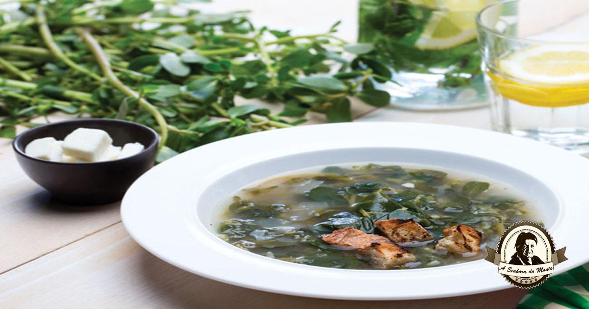 Sopa de beldroegas à moda alentejana