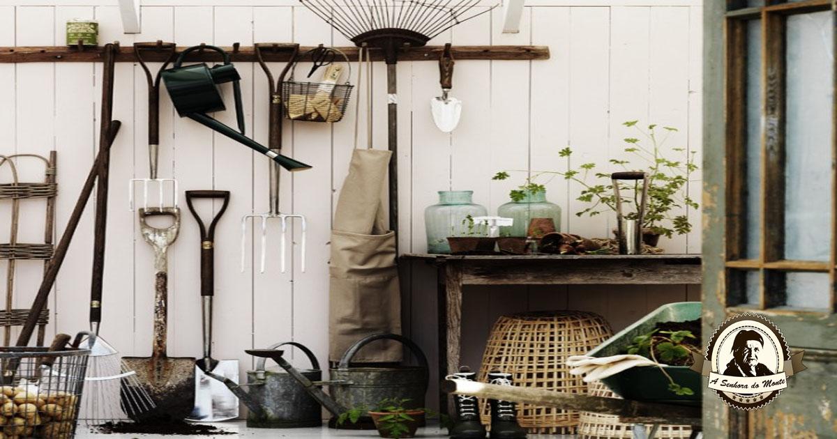 Aprenda a cuidar dos utensílios do seu jardim