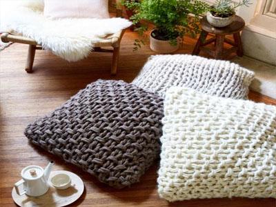 Almofadas em tricô