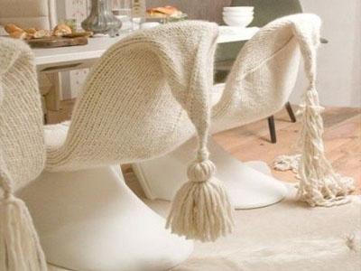 Cadeiras em tricô