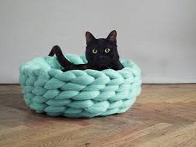 Cama de gato em tricot