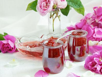 Compota de pétalas de rosas