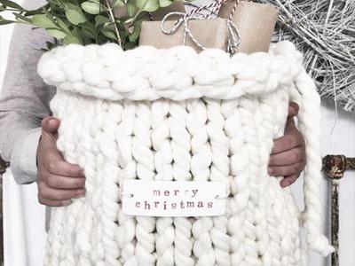 Saco em tricot