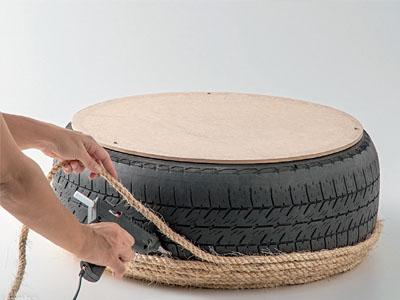 Reaproveite pneus velhos e decore a sua casa