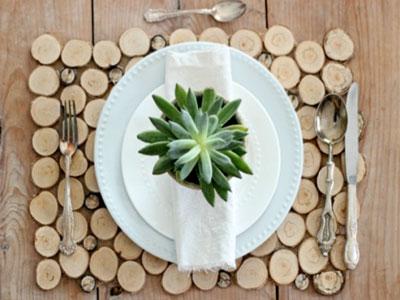 Ideias criativas com rodelas de troncos de árvores!
