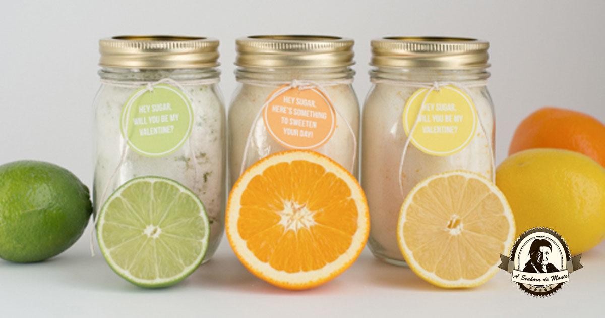 Aprenda a fazer açúcar aromatizado com citrinos