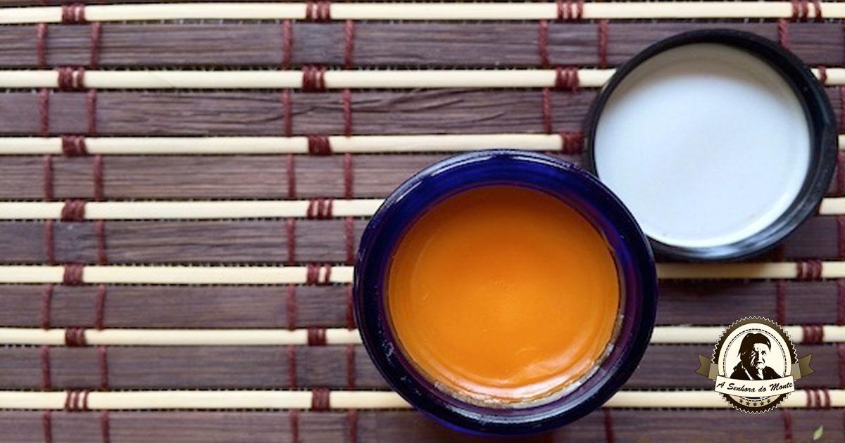 Pomada caseira e analgésica feita de pimenta de caiena