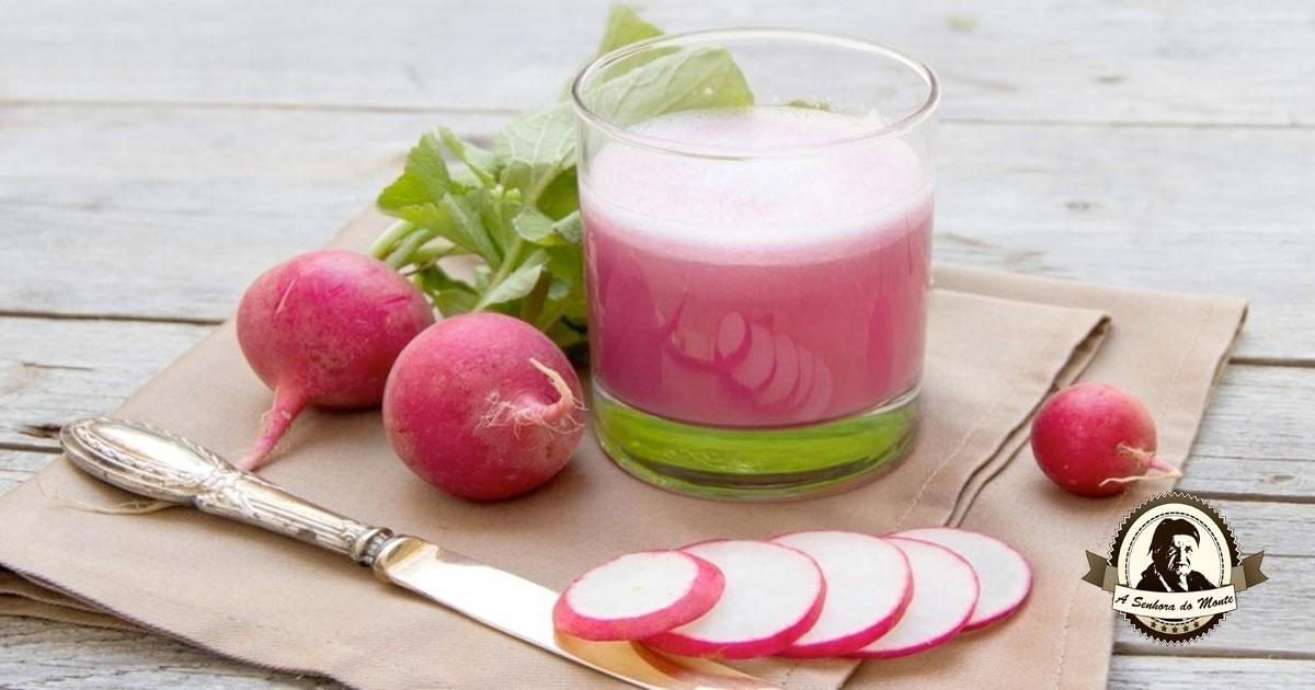 Sumo de rabanete - um sumo cheio de benefícios para a sua saúde!