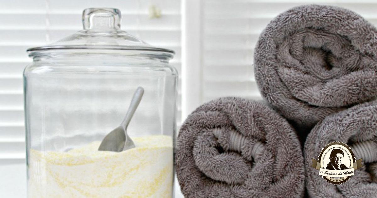 Detergente em pó caseiro para lavar roupa na máquina