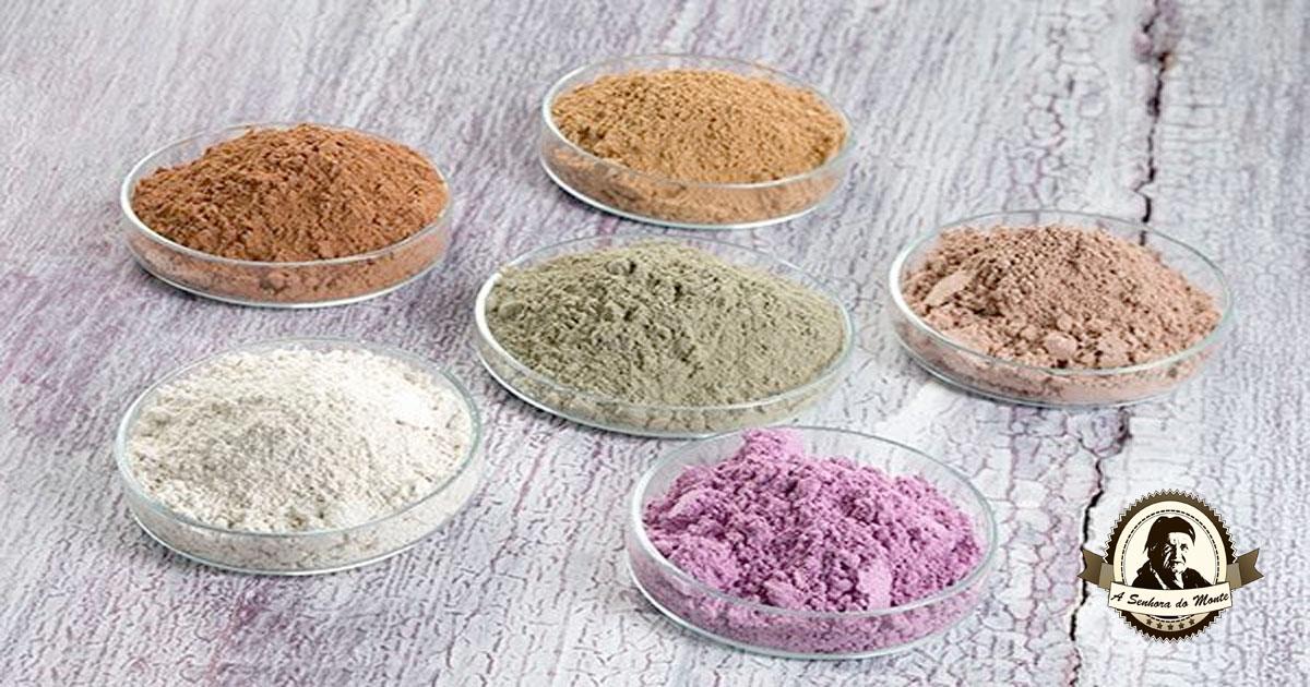 Aprenda quais os benefícios dos variados tipos de argila