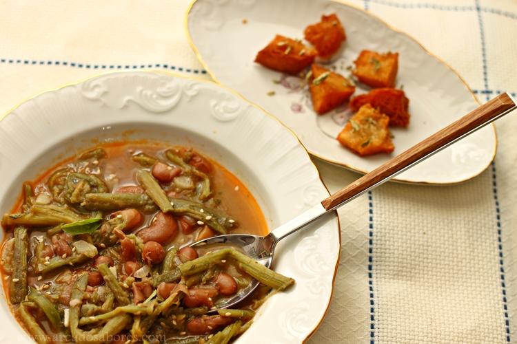 Sopa alentejana de feijão com cardos