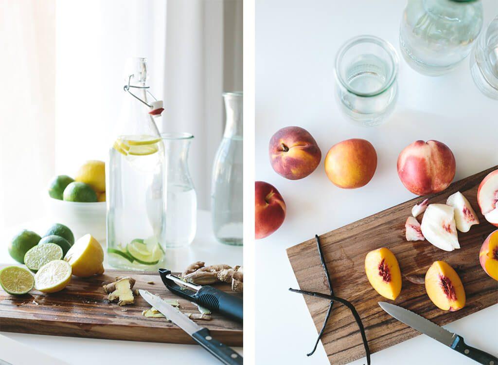 Aprenda a fazer águas aromatizadas de frutas e vegetais