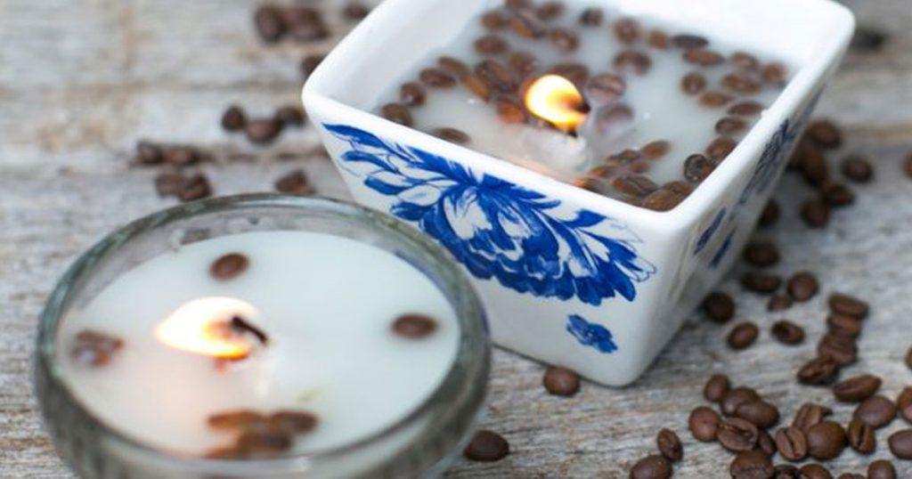 Aprenda a fazer velas com aroma a café e baunilha
