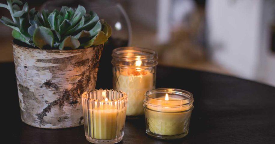 Faça as suas próprias velas de cera de abelha