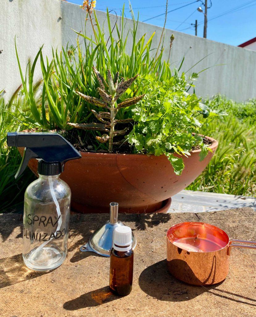 Spray natural para atrair polinizadores para o seu jardim