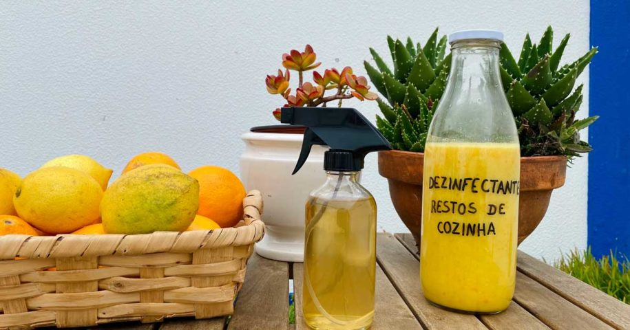 Aprenda a fazer um desinfectante enzimático feito com restos de cozinha