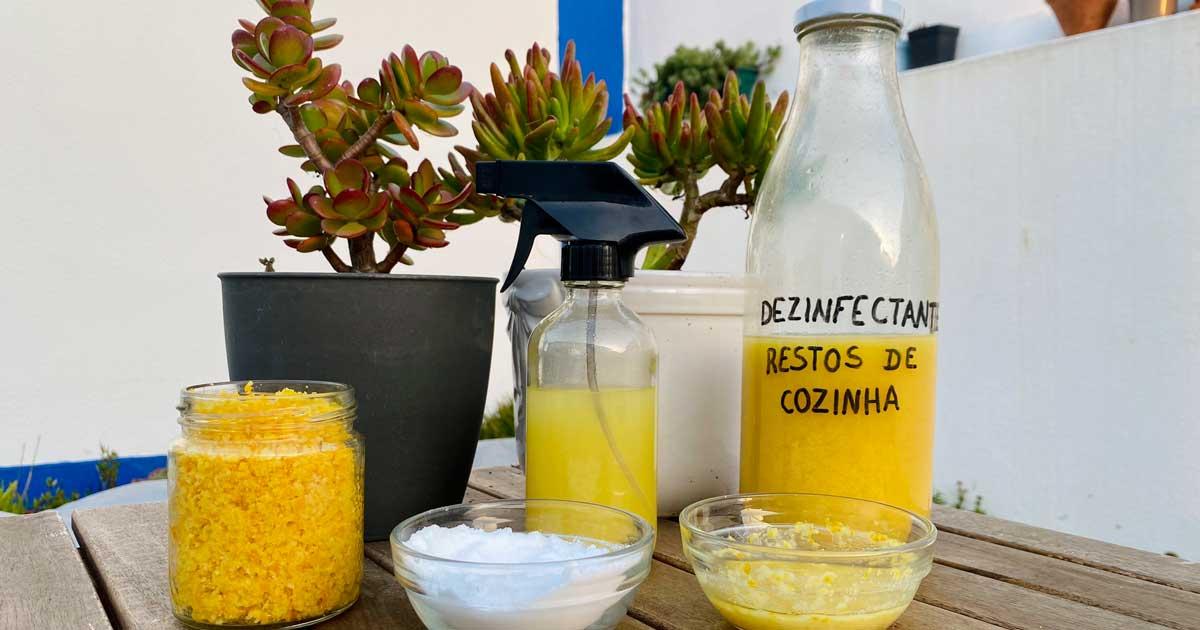 Aprenda a fazer uma pasta de limpeza com raspas de citrinos